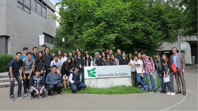 Anglo-Chinese School visit to University of St.Gallen, group picture