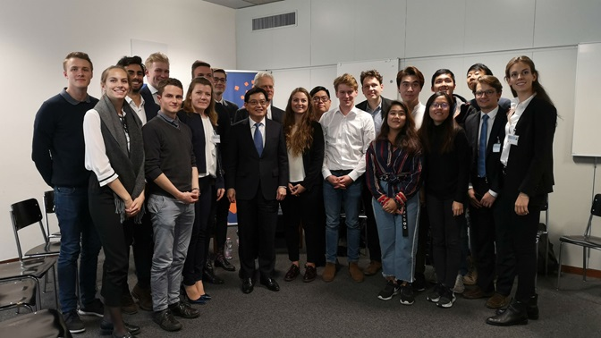 Singapore DPM Heng Swee Keat visits the St.Gallen Symposium, 2019